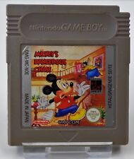 Nintendo 2x Game Boy GB-Mickey DANGEROUS CHASE + MICKEY MOUSE 5 bacchette magiche