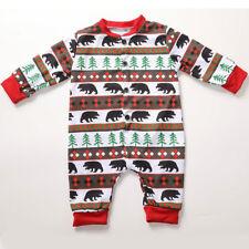 Christmas Family Matching Bear Pyjamas Adult Kids Xmas Sleepwear Nightwear Suits