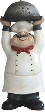Chef holding Welcome to My Kitchen Tray Figurine