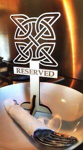 Reserved Sign for Restaurants, Hotels and Bars. Wooden, Stunning Celtic Design