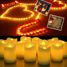 24/48/72/96pcs Flameless Votive Candle Battery Operated Flickering LED Tea Light