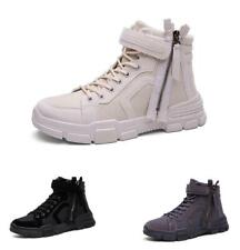 Mens Biker Outdoor Hiking Sports Work Casual High Top Desert Ankle Boots Shoes D