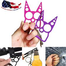 2pcs Pro Cat Self-Defense Key-Chain Keyring Emergency Metal Tool Women Gift