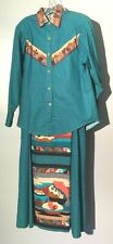 Womens Vintage H Bar C Top & Skirt Set California Ranch Wear Western Outfit