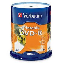 Verbatim Dvd-r 4.7gb 100pk White Inkjet 16x Manager Special