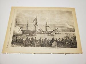 Arrival of the Body of Prince Maximilian of Mirmar at Trieste c. 1868 Engraving