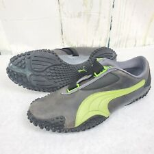 Rare! Puma Mostro Gray/Green Size 13 ☆ Driving Racing Leather Shoes UR