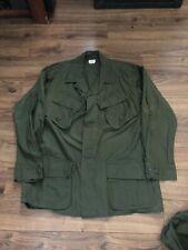 Mint - Unused Army Vietnam Era Tropical Combat Fatigue Jacket: Large-Short