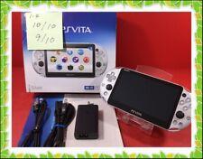 Near Mint beautiful no scratch PS Vita ZA25 silver PCH-2000 Charger Box display