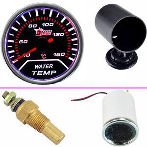 kühlwasser Wasser Tempratur Meter LED Anzeige Instrument + Instrumentenhalter