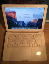 "White Apple MacBook 13"" Laptop Unibody 2.26Ghz 8GB Ram 1000GB Drive VGC Working"