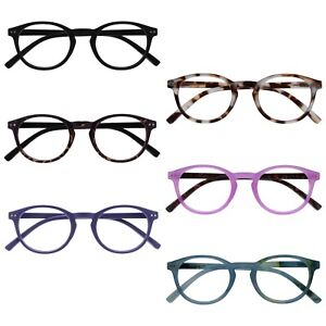 Opulize Zen Reading Glasses Small Mens Womens Spring Hinges R24