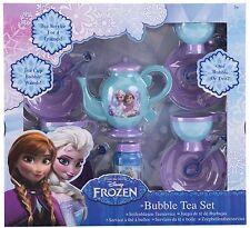 NEW Disney Frozen Anna Elsa Childrens Bubble Blowing Toy Tea Party Set For Girls