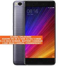 """XIAOMI MI 5S 3/4gb 32/64/128gb Quad Core 12Mp Led 5.15"""" Android Lte Smartphone"""