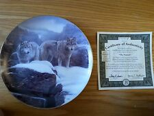 """Bradford Exchange """"The Summit"""" Winter Guardians collector plate (1996)"""