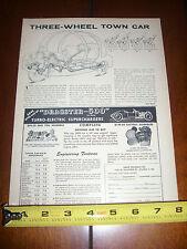 1956 DRAGSTER 500 ELECTRIC SUPERCHARGER ***ORIGINAL AD*** HOT ROD - RAT ROD