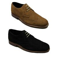 Mens Boots Lucini Lace Up Leather Brogues Smart Formal Office Work Casual Shoes