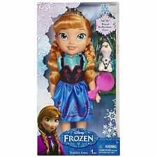 Disney Frozen Anna Doll Toddler Girl Princess Hair Brush Olaf Toy Gift