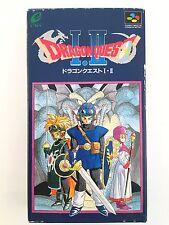 DRAGON QUEST 1 2 I II with BOX Nintendo Super Famicom SNES SFC Video Game 526-6