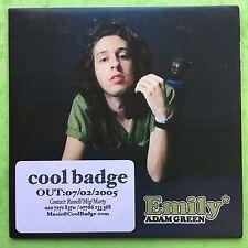 Adam Green - Emily - 4 Tracks - Card Sleeve - Promo CD (ENA286)