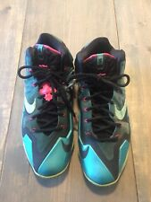 NIKE LeBron X1 11 South Beach Turquoise Mint Men's Shoes 616175-330 Size: 11
