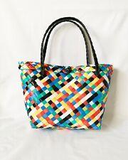 Small Plastic Woven Tote Bag (Bayong) - Colored