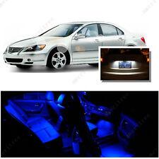 For Acura RL 2007-2012 Blue LED Interior Kit + Xenon White License Light LED
