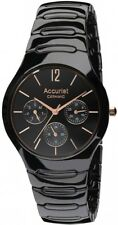 Accurist MB990B Ceramic Black Multi Dial Gents Watch 2 Year Guarantee RRP £179