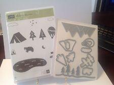 Stampin Up ! Always an Adventure clear mount stamp set & Outdoor Framlits bundle