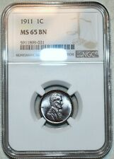 NGC MS-65 BN 1911-P Lincoln Cent, Beautifully toned specimen