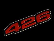 VMS 1 CHRYSLER DODGE 426 CI CUBIC INCH HEMI ENGINE HO EMBLEM RED BLACK