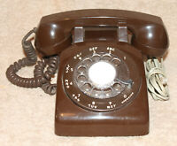 Western Electric 500 Clone Rotary Chocolate Brown Telephone 1983 Rotelco SC