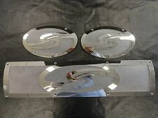 SKI SUPREME STAINLESS STEEL VENT COVERS SET OF (3) MARINE BOAT