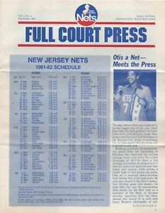 NEW JERSEY NETS - 1981 FAN NEWSLETTER - Preview of 1st season in the Meadowlands