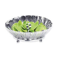 AVANTI 24cm Stainless Steel Collapsible Vegetable & Fruit Steamer Basket!