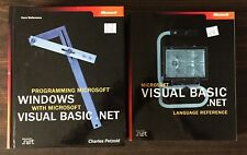 Book Lot of 2, Visual Basic.net Language Reference and Programming Windows