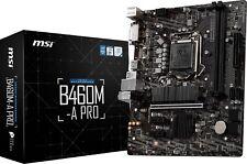MSI B460M-A PRO LGA1200 Intel 10th Gen SATAIII USB3.2 Gen1 Micro-ATX Motherboard