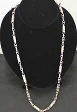 """AMG silver chain 925 with white 84.8 GR,14""""in"""