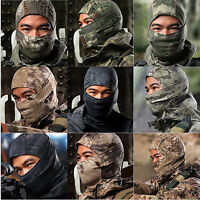 Camouflage Balaclava Army Outdoor Tactical Military Ski Full Face Mask Cap Hats