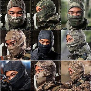 Men Women Balaclava Hat Camouflage Camo Warm Neck Cycling Biker Face Cover Up
