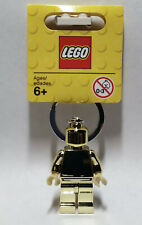 Brand New Lego - Gold Minifigure Keyring / Key Chain - Classic - 850807 - BNWT