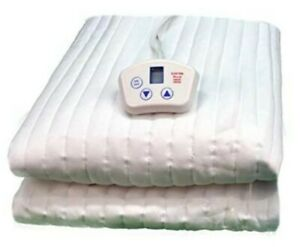 """ElectroWarmth Electric Heated Mattress Pad 120V Queen 60×80"""" Dual Control M60FLD"""
