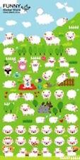 Sheep Puffy STICKERS Sheet of 66 Funny Sticker World Korea Kawaii