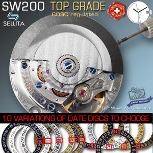 MOVEMENT AUTOMATIC SELLITA SW200, TOP GRADE, (COMPATIBLE ETA 2824)