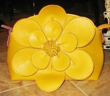 Floral  Purse flower Tote shoulder crossover strap Bag  Spring yellow