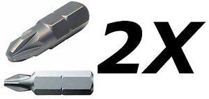2X Phillips Pozi Pozidrive screwdriver bit.PZ0,PZ1,PZ2,PZ3,PH0,PH1,PH2,PH3
