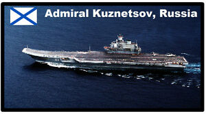 Admiral Kuznetsov, Rusia, Aircfaft Portador - Souvenir, Imán de Nevera - Nuevo