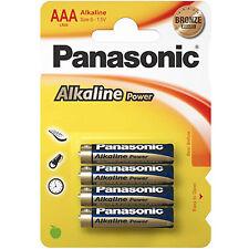 4x AAA Alkaline Power PANASONIC- LR03 Micro LR3 - BATTERIEN - 1,5 Volt * Size S