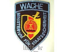 MfS Staatssicherheit DDR Stasi Aufnäher / Abzeichen WACHE Patch state security
