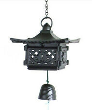 Japanese Furin Wind Chime Nambu Cast Iron Pagoda Lantern w/ Bell, Made in Japan